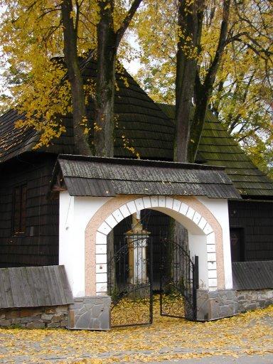 Kościół parafialny w Jurgowie. Jesien 2007